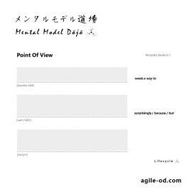 Design Thinking POV Templates | agile-od.com | Lifecycle
