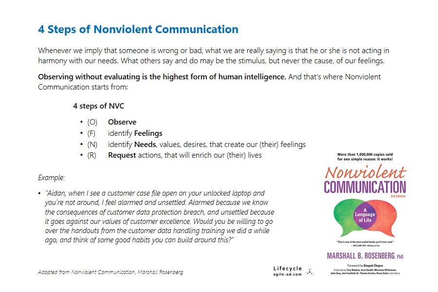 4 steps of Nonviolent Communication