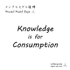 Knowledge is for Consumption | Coach Takeshi | agile-od.com
