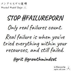 Stop #failureporn - only real failures count - agile-od.com