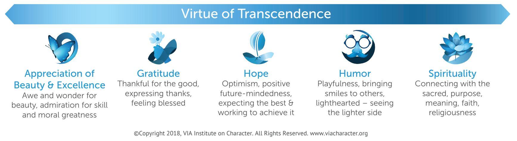 VIA Character Strengths - Transcendence