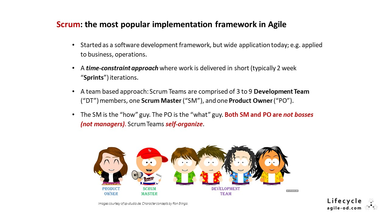 Scrum: the most popular implementation framework in Agile