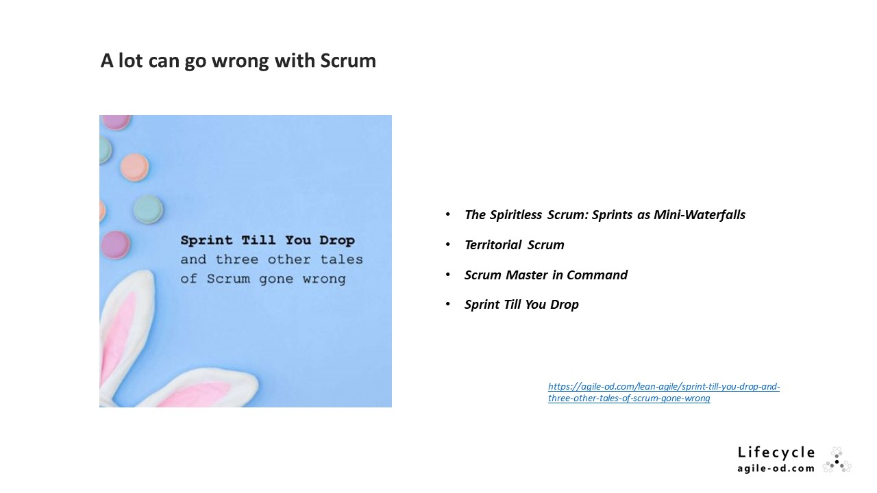 A lot can go wrong with Scrum