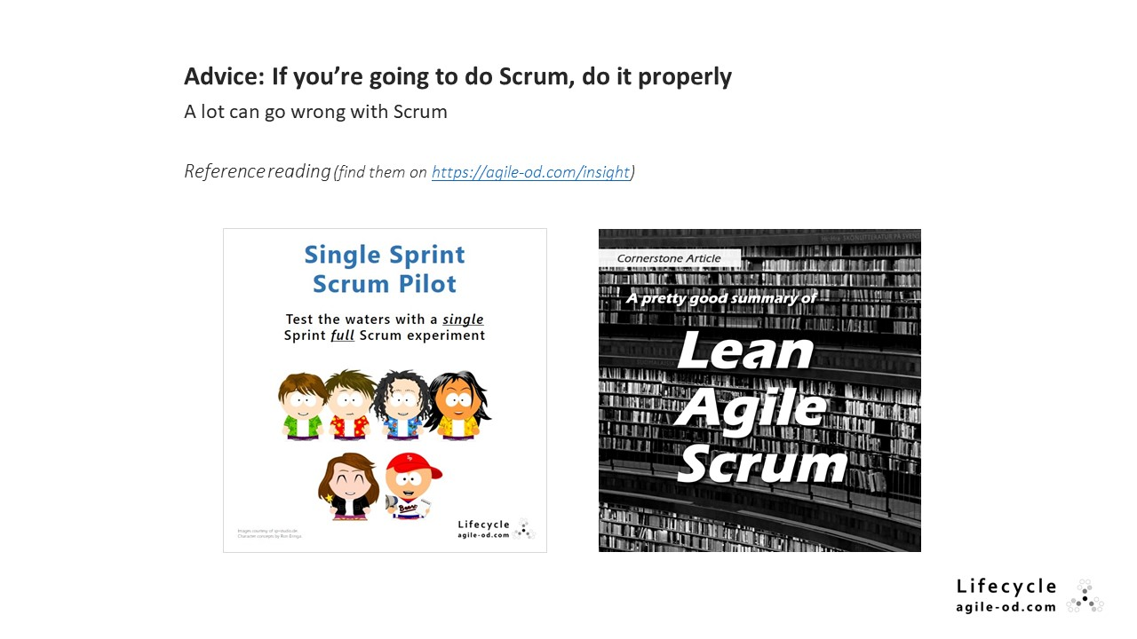 Advice: If you're going to do Scrum, do it properly
