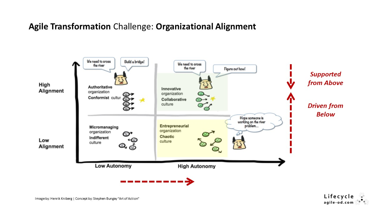 Agile Transformation Challenge: Organizational Alignment