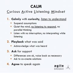 "How to Receive Critical Feedback in a Breeze: Try CALM – ""Curious Active Listening Mindset"""