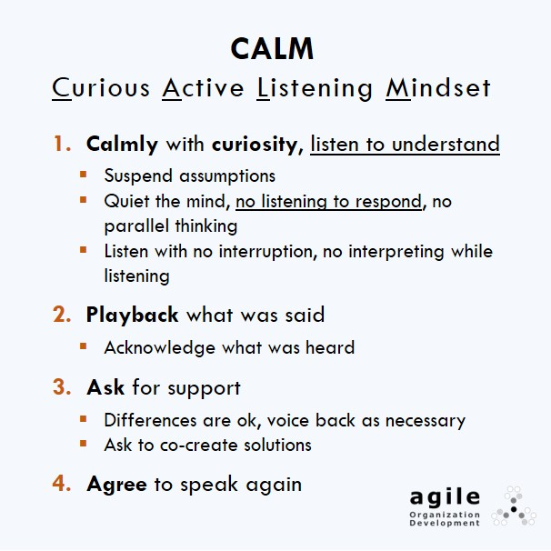 """How to Receive Critical Feedback in a Breeze: Try CALM – """"Curious Active Listening Mindset"""""""