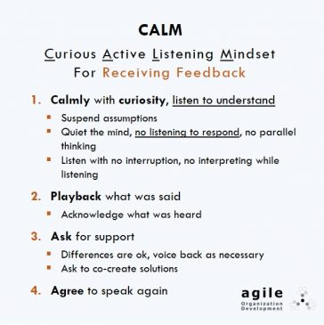 Curious Active Listening Mindset for Receiving Feedback