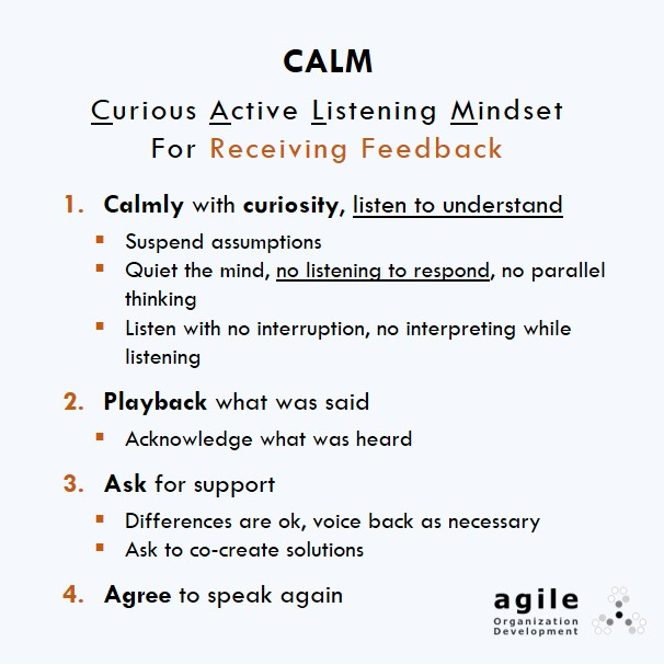 "ow to Receive Critical Feedback in a Breeze: Try CALM – ""Curious Active Listening Mindset"