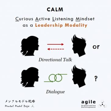 Curious Active Listening Mindset as a Leadership Modality - Directional Talk or Dialogue?