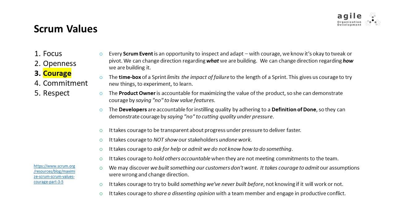 Scrum Values: Courage | Coach Takeshi's Scrum Crash Course