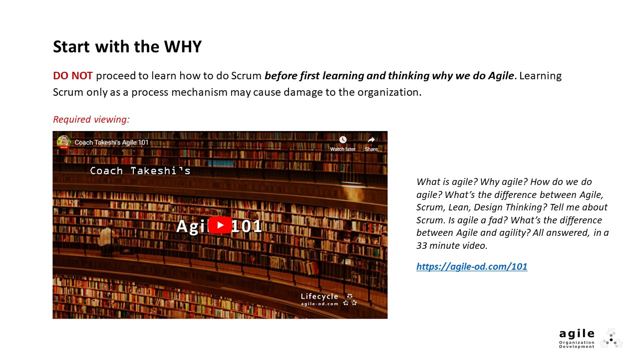 Start with the WHY | Coach Takeshi's Scrum Crash Course