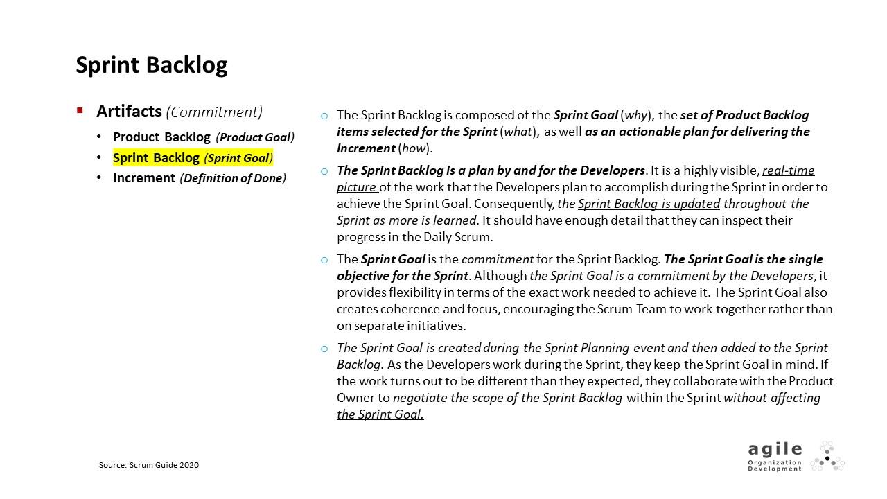 Scrum Artifacts: Sprint Backlog | Coach Takeshi's Scrum Crash Course