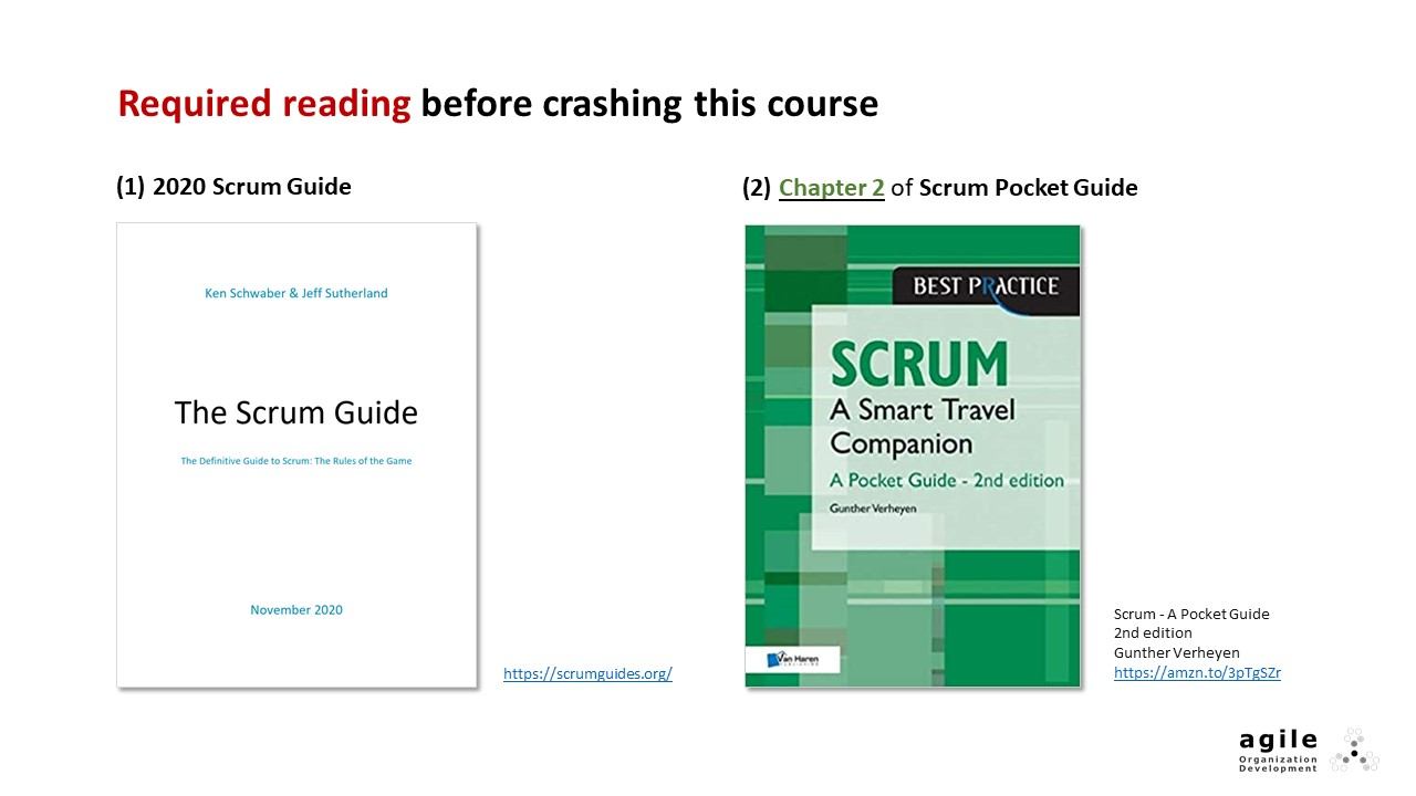 Required reading | Coach Takeshi's Scrum Crash Course