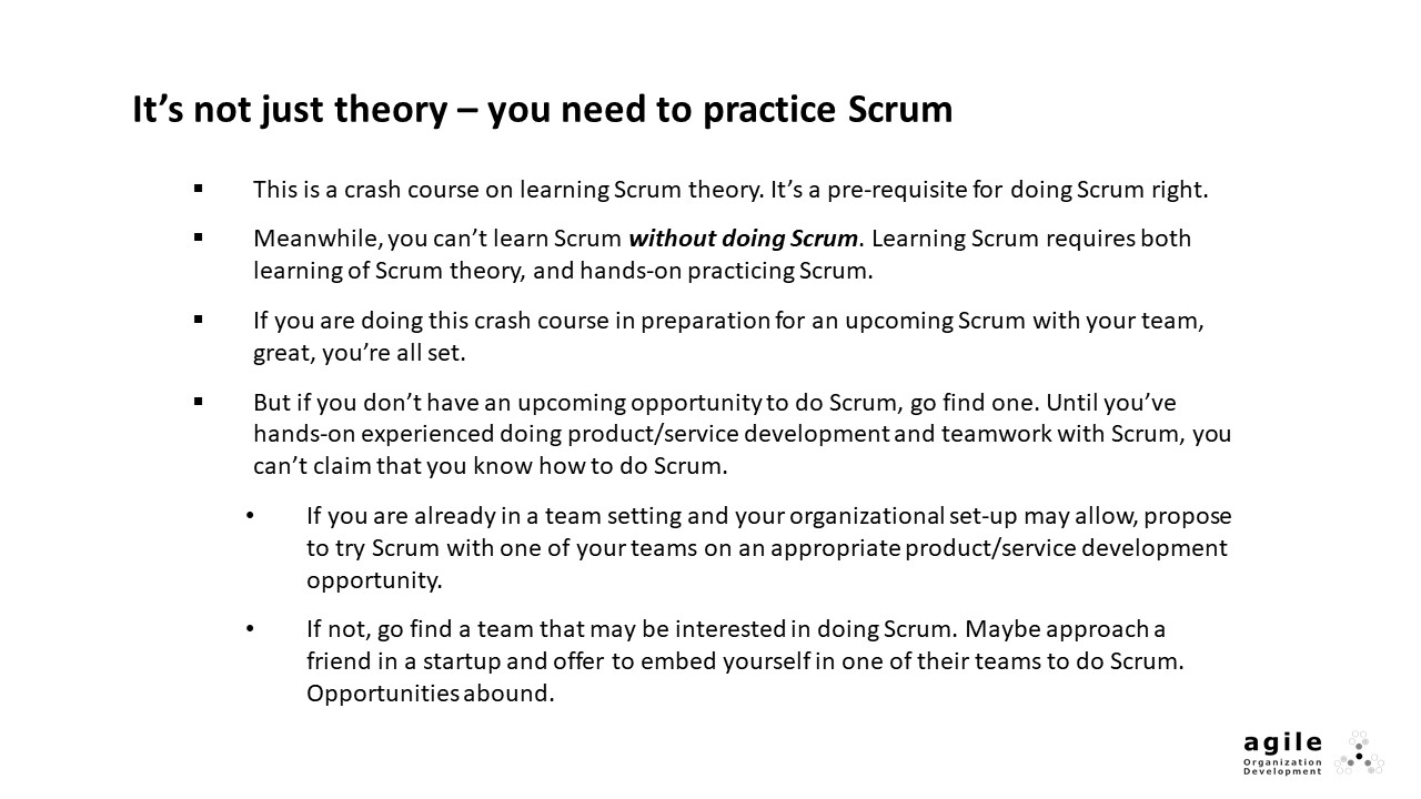 You need to practice Scrum | Coach Takeshi's Scrum Crash Course