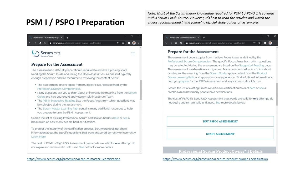 PSM 1 / PSPO 1 preparation