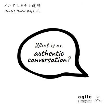 What is an authentic conversation?