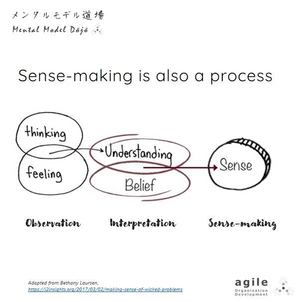 Sense-making is also a process