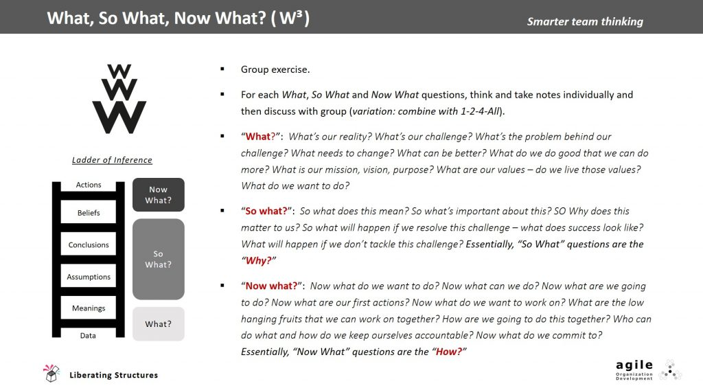 W3 - What, So What, Now What?