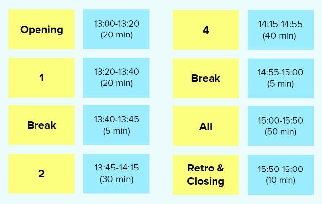 W3 124A 180 min sample timeline